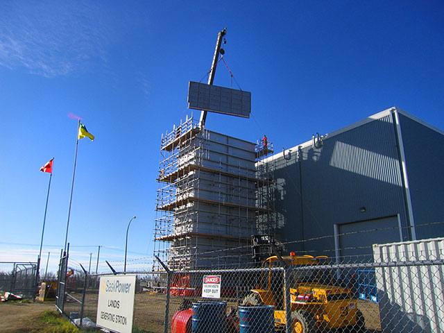 Construction at facility